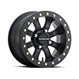 Raceline Mamba Blackout Beadlock Wheel (Front/Rear / 14X8 / 4/156 4+4) Compatible with 14-19 Polaris RANRZR1000XE