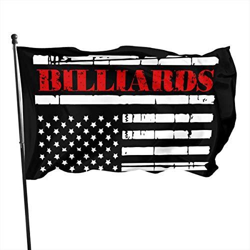Kenice Demonstrationsflagge,Außenbereich,Dekoration Flagge,Saisonale Gartenflaggen,Außendekoration,Amerikanische Flagge Billard 3X5Ft Banner,Wetterfeste Außenflaggen