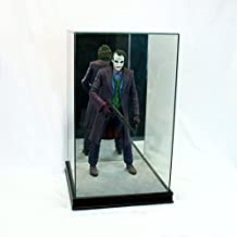 1/4th Scale Figurine Display Case - Comic Figurine - Crystal Clear Glass Protection - Black Moulding