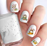 Garfield Easter (Clear Water-Slide Nail Decals)
