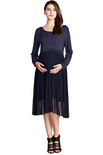 Product Image of the Sweet Mommy Maternity and Nursing Chiffon/Tulle Baby Shower Spring Summer Midi...