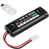 Crazepony-UK 7.2V 3300mAh RC Battery High Capacity NiMH Battery with KET-2P Connector for RC Cars, RC Truck, RC Airplane, RC Helicopter, RC Boat