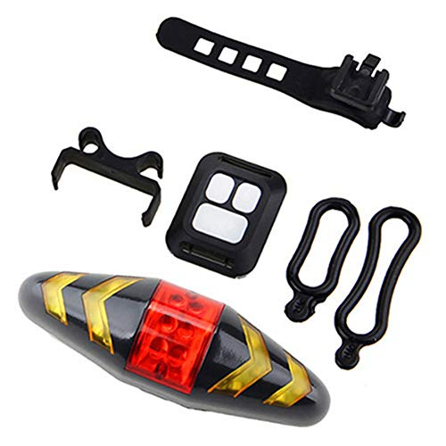 YZCH Cycle Lights,Bicycle Tail Light Turn Signals Wireless Remote Warning Light Accessories Mountain Bike