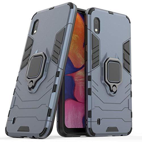 DWaybox Custodia for Galaxy A10 Ring Holder Iron Man Design 2 in 1 Hybrid Heavy Duty Armor Hard Back Custodia Cover Compatible with Samsung Galaxy A10 SM-A105/A105M/A105G/A105F 6.2 inch (Dark Blue)
