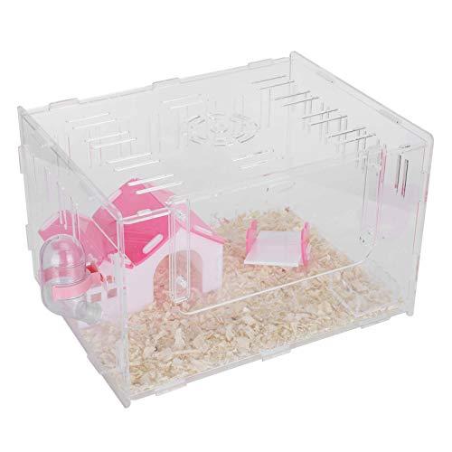 Pet Cage, Pet Sleeping House Hamster House, Hamster Castle Acryl Einschichtiger Hamster Hideout House Kleine Haustiere Rennmäuse für Chinchilla Small Animal(Large)