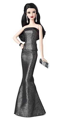 Barbie - Muñeca Look con Vestido, Color Gris y Negro (Mattel BDH27)