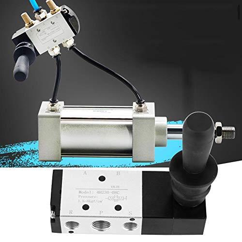 Elektrische magneetklep, Solenoid Valve,PT1 / 4, 5 poort 3 positie pneumatische elektrische magneetklep, hendelklep, hoge hardheid en corrosiebestendigheid, voor industriële (4H230-08)