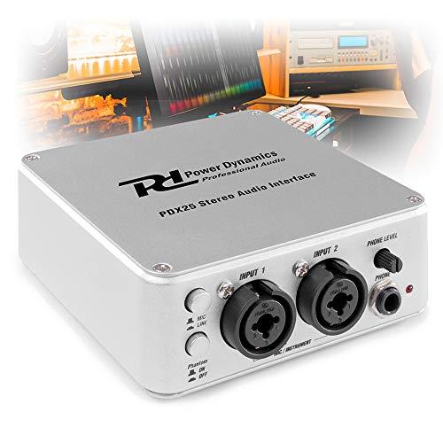 Power Dynamics PD-X25 USB Audio Interface RCA XLR Jack DJ DI Box Recording...