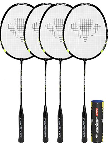DUNLOP Carlton Badminton Rackets (2 Player, 4 Player and Family Options) (Aeroblade x4)
