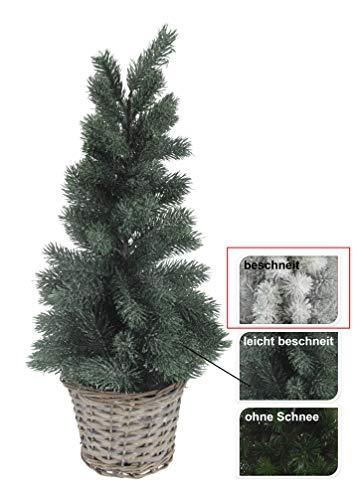 Meinposten Christmas Tree 55 cm Christmas Decoration Tree Decoration Natural Snowy Green