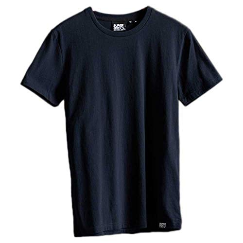 Superdry Hombre Camiseta con Logo en Relieve Halftone Kanji Azul Marino Eclipse...