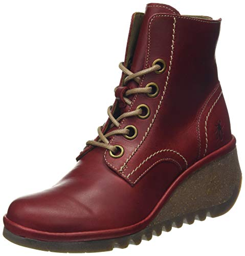 Fly London Damen Nure195fly Combat Boots, Rot (Red 006), 38 EU