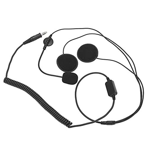 SHYEKYO Auriculares para Casco con Micrófono, Cable De Reflexión De Radiofrecuencia Totalmente Blindado, Kit De Casco para Cascos Integrales