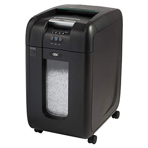 GBC Paper Shredder, SmarTech Enabled, Auto Feed, 300 Sheet Capacity, Super Cross-Cut, 5-10 Users, Stack-and-Shred 300X (1757576S)