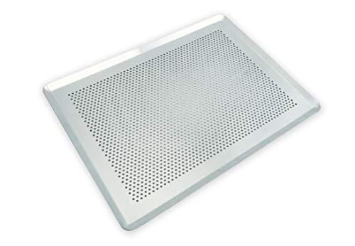 CÉCOA - Placa de aluminio perforada 40 x 30 cm, Buena bandeja para galletas, para repostería, para horno.Calidad...