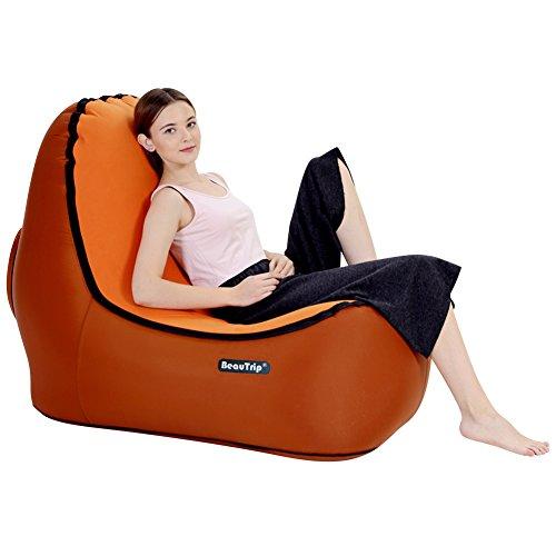 BEAUTRIP Pak een Comfy Seat Outdoor Opblaasbare Lounge Stoel - Ongelooflijk Ergonomisch Ontwerp Air Lounger Sofa - Ideaal Picknic/Camping/Strand Stoelen, Air Hangmatten - Hang-out en Geniet geweldig Buiten