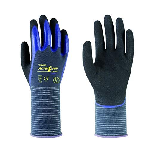 Xasclnis Nitril oliebestendige handschoenen, anti-slip slijtvaste handschoenen, mechanische reparatie scrub handschoenen