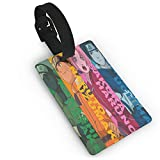 Etiquetas de equipaje de Naruto Squad, unisex, etiquetas para maleta, etiquetas para bolsas de equipaje con cubierta de...