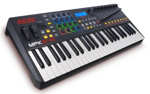 AKAI Professional MPK249 - USB MIDI Keyboard Controller with 49 Semi Weighted Keys, Assignable MPC Controls, 16 Pads and Q-Links, Plug and Play