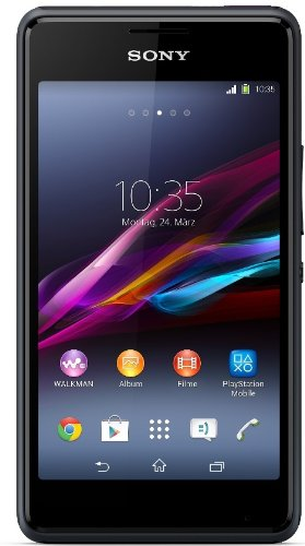 Sony Xperia E1 Dual Smartphone (10,2 cm (4 Zoll) TFT-Display, 1,2GHz Dual-Core, 3 Megapixel Kamera, Dual-SIM, Android 4.3) schwarz