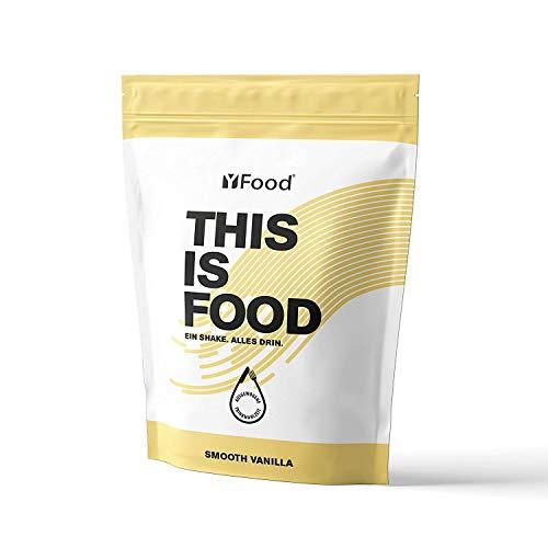 YFood Vanilla | Batido en Polvo | Sustituto de comida sin gluten ni lactosa | 17 comidas, 26 vitaminas y minerales | proteína en polvo | batido de proteína delicioso | pack 1,5kg