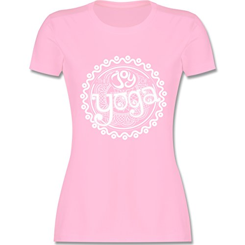 Wellness, Yoga & Co. - The Joy of Yoga - M - Rosa - L191 - Tailliertes Tshirt für Damen und Frauen T-Shirt