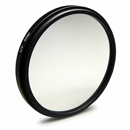 UV Filter 58mm kompatibel mit Canon EOS 1DX, 5D Mark II/III, 6D, 7D, Nikon Df, Panasonic Lumix DMC-GH4, Samsung Galaxy NX10 + Reinigungstuch