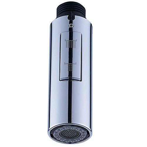 Wankd Universal G 1/2 Zoll Küchenarmaturkopf Wasserhahn Brausekopf Ersatzteil, 2 Sprüheinstellungen Duschkopf für Küche Badezimmer Armatur verchromt, A
