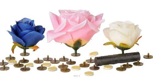 Artif-deco - Supports collants tete de fleur x24 +double face x24+ aimant x24 d 1 50 cm