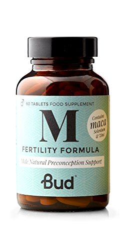 Bud Male Fertility Supplement | Natural Fertility Vitamins for Men | Maca + Zinc, Selenium & L-carnitine for Sperm Quality & Male Reproductive Health | 60 Tablets - Made in UK