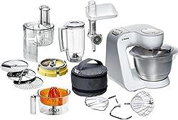 Bosch MUM54251 Küchenmaschine Styline, Edelstahl-Rührschüssel inklusiv integriertem Zubehör, 900 Watt