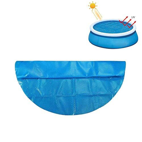 likeitwell Solarabdeckung Für 4/5/6/8/10/12 / 15ft Durchmesser Easy Set Und Rahmen Pools Runde Poolabdeckung Protector Foot Over Ground Blue Schutz Schwimmen, Endothermic Protector Thermal Blanket