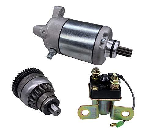 Hity Motor 18645 Starter Drive & Relay Solenoid For Polaris Sportsman 500 1996-2002 Polaris 3084981 3090188