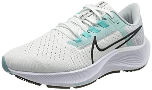 Nike Wmns Air Zoom Pegasus 38, Scarpe da Corsa Donna, White/Oil Grey-Pure Platinum-Aurora Green-lt Dew, 36.5 EU