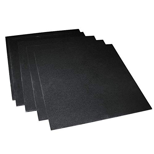 5 Pack 12 x 12 x.125 Black HDPE Sheets, Great for DIY Projects for Home and Marine Applications, Black Plastic Sheets, High Density Polyethylene Sheets, Made in USA