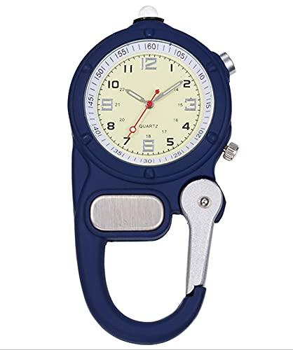 XLH Karabinerhaken-Uhr LED-Licht Climb Mountain Outdoor-Sportuhren Taschenuhr Krankenschwesteruhr Bergsteiger-Sportausrüstung