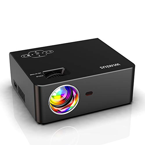 "WiFi Projector, New WiMiUS S2 Portable Mini Projector w/ 6000 Brightness High Contrast Lumens & 5W HiFi Speaker, Support 1080P and 300"" Screen, Compatible w/ Laptop, iPhone, Android, Fire TV Stick"