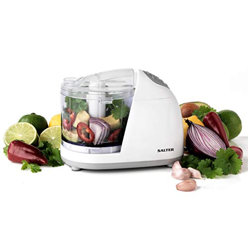 Salter EK2182 Electric Mini Kitchen Fruit and Vegetable Chopper, 150 W, White