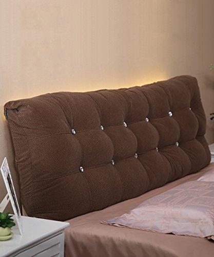 NYDZDM matraskussen van katoen, zachte hoofdsteun op het bed, grote kussens, voor tweepersoonsbed deelbaar, compleet/groot/extra groot 180 * 15 * 58cm Bruin
