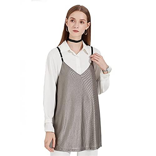 MOZHANG Chaleco de protección contra la radiación, Fibra de Plata Mujeres Embarazadas Vestido Protector Electrodomésticos para el hogar Protección del Embarazo, Equipo electrónico de Escudo para Todo