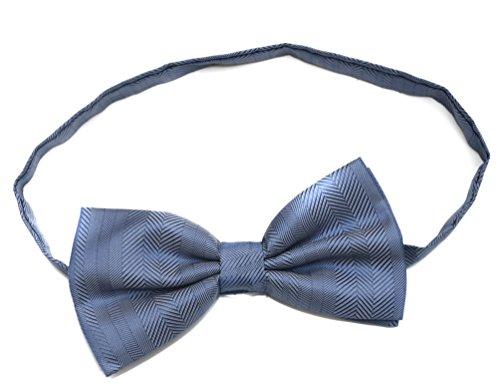Classique et unisexe avec motif bleu clair-Noeud Papillon sur bandes