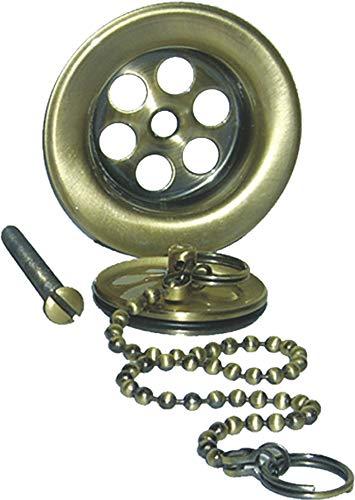 Kibath 316033 Válvula Universal Compatible con la mayoría de lavabos Fabricada en latón, Bronce/Oro Viejo