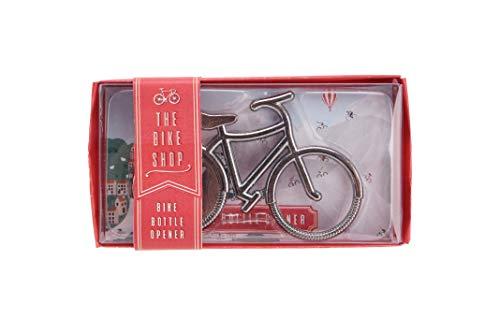 Apribottiglie in argento a forma di bicicletta
