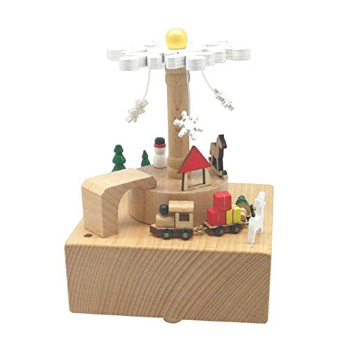 IADZ Caja de música, caja de música de coche de dibujos animados resina gato baile giratorio caja de música nuevo año Navidad cumpleaños regalo música caja