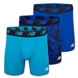 New Balance Men's 6' Boxer Brief 3-Pack, Cadet/Team Royal/Royal, Medium(32-34')