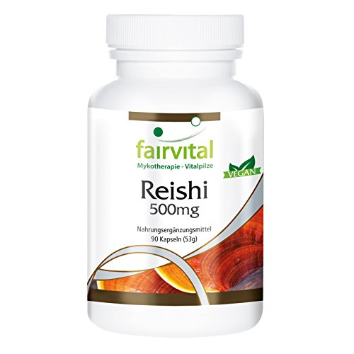 Reishi capsules 500 mg - HOOG GEDOSEERD - VEGAN - 90 capsules - Reishi paddenstoel poeder - Ling Zhi