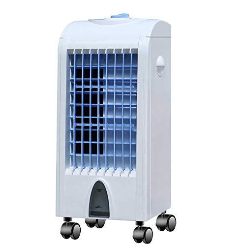 Lapden Enfriador evaporativo, Ventilador de enfriamiento portátil con Tanque extraíble 3 velocidades del Viento, Mango Incorporado 4 Ruedas, Ventilador eléctrico Tranquilo para enfriamiento de 30 m²