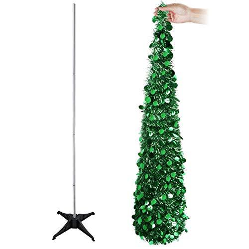 SDYPDQ 5-voet Pop-Up kunstkerstboom decoratie draad opvouwbare nep nieuwjaar boom gemakkelijk te plaatsen en op te slaan