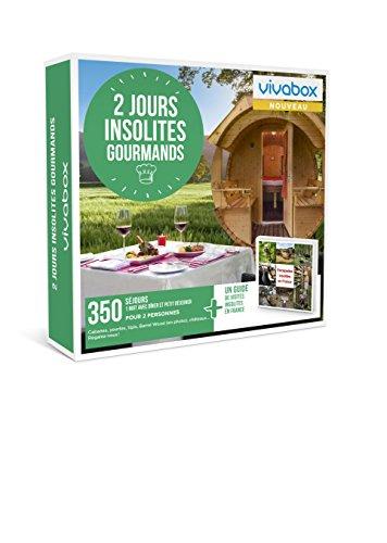 Vivabox- Coffret cadeau couple - 2 JOURS INSOLITES GOURMANDS - 350 week-ends insolites + 1 guide