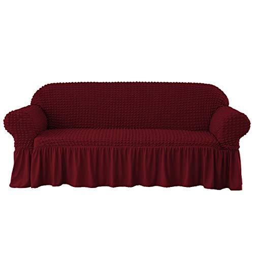 JeromKewin - Funda de sofá de alta elasticidad, color sólido antideslizante universal